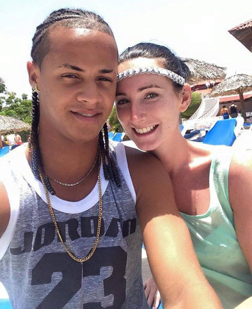 """Pictured is Heather McGillion and Adonis Rodriguez. A WOMAN has told how her boyfriend married another woman while she was giving birth to their baby. Heather McGillion, 24, had fallen for handsome Adonis Rodriguez while they both working as holiday reps in the Dominican Republic. After more than a year together, Heather, from Johnstone, Renfrewshire, fell pregnant and the pair made plans for family life on the Caribbean island. However after suffering complications during her pregnancy she decided to temporarily return home to Scotland to give birth but her partner was denied a visa. But as she welcomed her son Diego into the world, she was horrified after receiving a message on Facebook from a friend showing Adonis, 21, marrying a German tourist called Julia. Heather, a trained dancer, said: """"When I opened the message it felt like I had been hit by a double-decker bus. """"Adonis had his arms around a woman and she was wearing a wedding dress."""""""