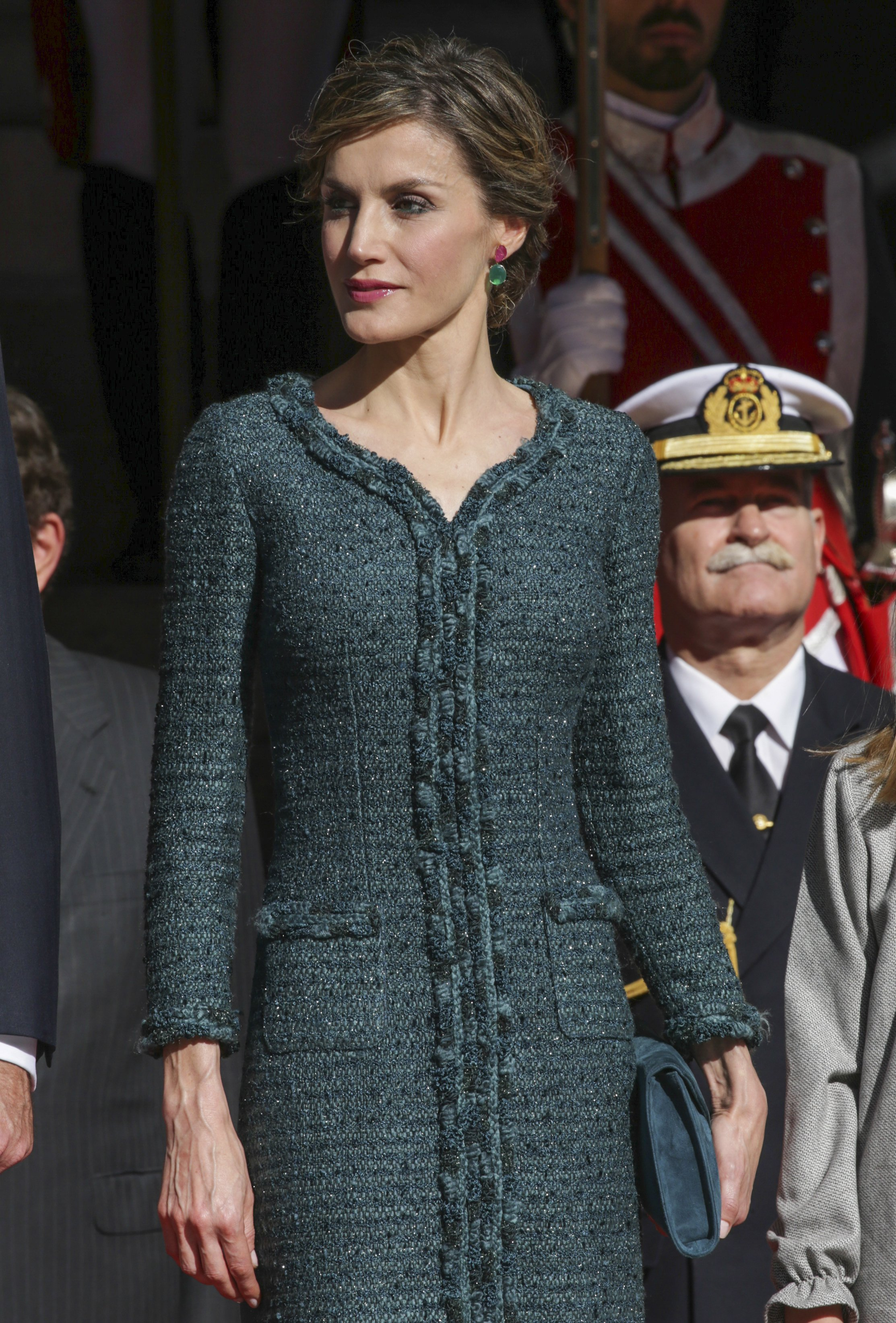 Queen Letizia of Spain during the opening ceremony of the XII Legislature in the Congress of Deputies in Madrid, Spain, Thursday, Nov. 17, 2016.