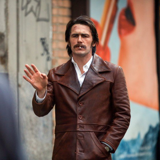 James Franco gets into character on the set of 'Deuce' in NYC