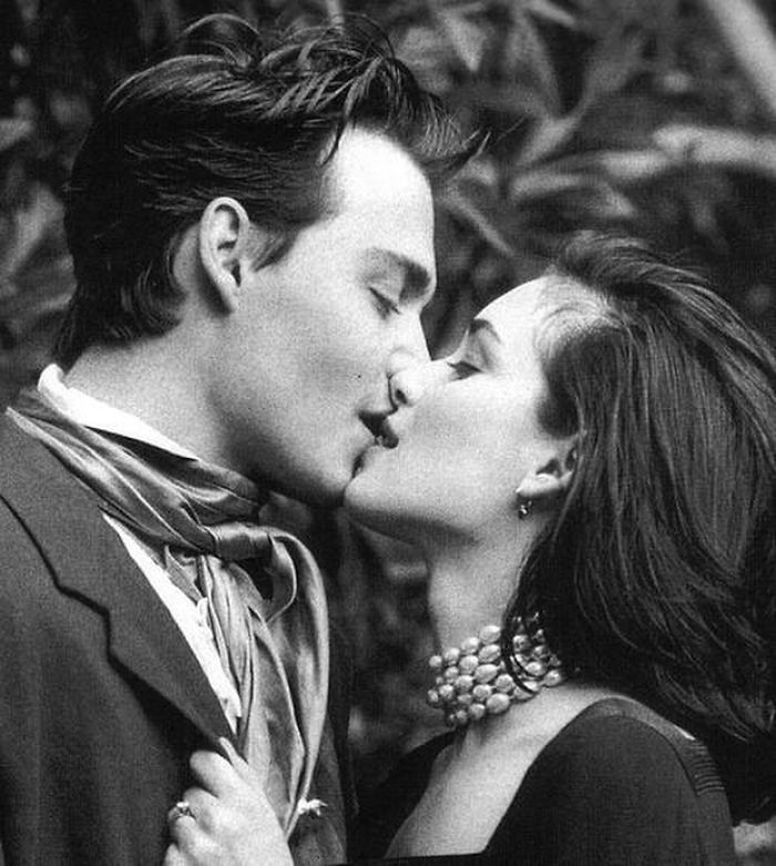 Johnny Depp & Winona Ryder en 1991, por Herb Ritts para Vogue UK