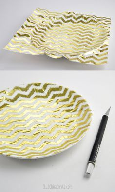 how to decoupage a plate