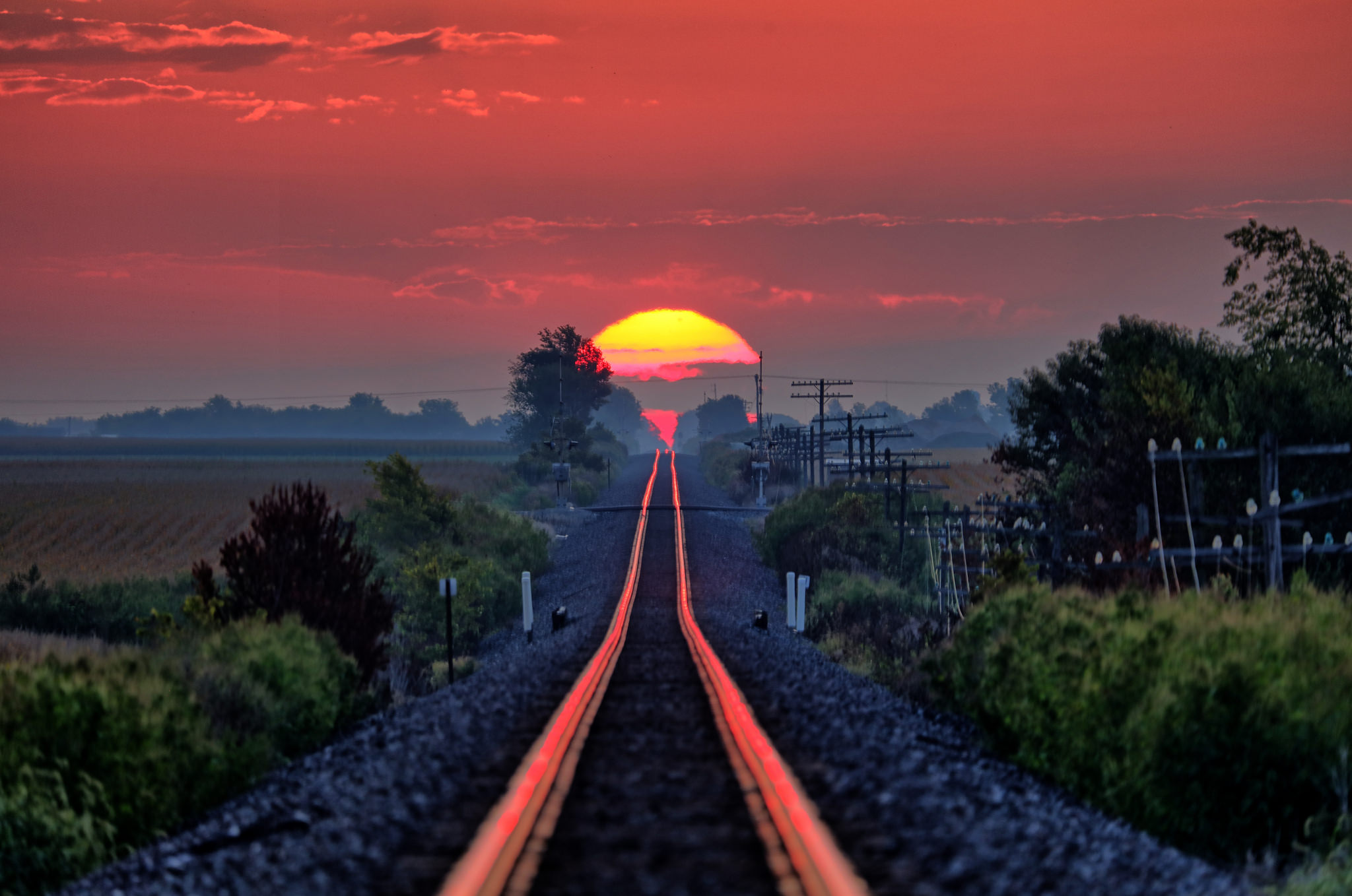 Sunrise on the Rails
